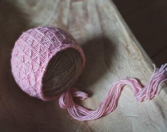 Newborn Garden Bonnet, Pink