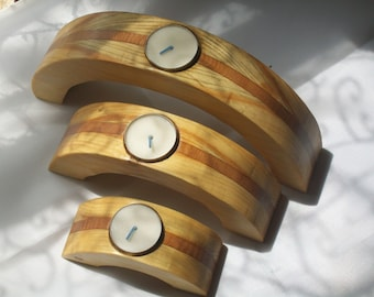 Semi circle candle holders