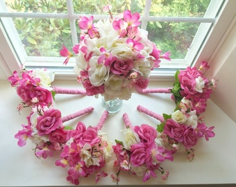 Wedding Bouquets/Boutonnieres Pink
