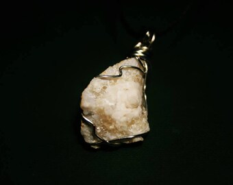 Wire Wrapped Necklace Geode
