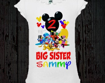 Mickey Mouse Birthday Sister Shirt