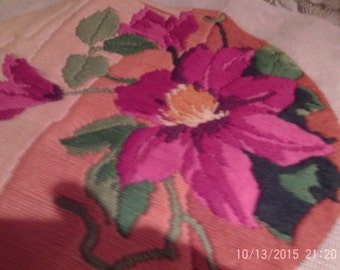 clematis embroidery