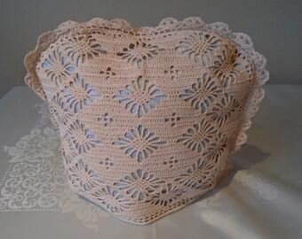 crocheted tea cosy