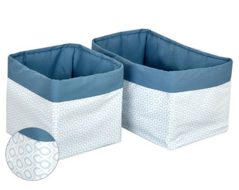 KraftKids basket - white eyes on Pastelblau with graphite blue