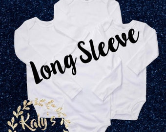 Purchase to make your bodysuit Long Sleeve