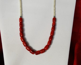 RED SPONGE CORAL Beauty Necklace