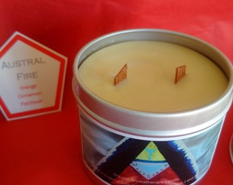 Orange, Cinnamon and Patchouli AUSTRAL FIRE Organic Aromatherapy Candle