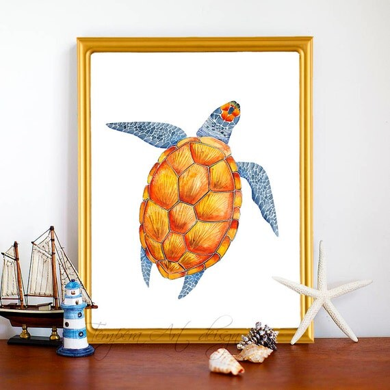 Turtle decor turtle decor art nautical wall by Turtle decorations for home