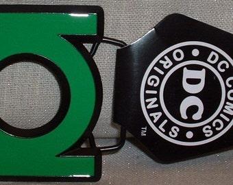 GREEN LANTERN Metal / Enamel DC Comics Logo Belt Buckle