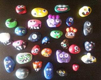Monster Rocks Magnets, Rock Magnets, Monster Magnets