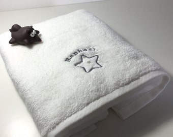 Embroidered towel personalised