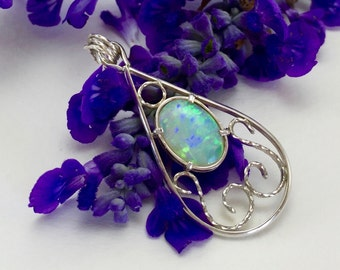 Oval Opal Pendant