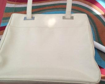 Liz Claiborne vintage, ivory, classic, handbag