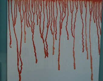Orange and White Drips (Unfinished)