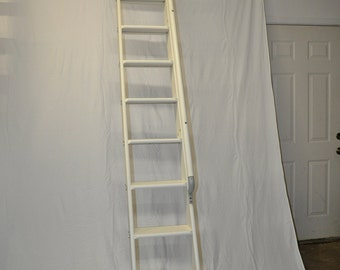 Vintage Telephone Ladder, Antique Library Ladder, Loft Ladder, Ladder Display, Western Electric, Antique Furniture, Industrial Ladder