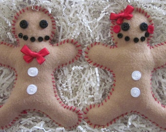 Gingerbread Cookie Ornaments (in Pairs)