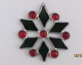 Stained Glass Snowflake Sun Cathers