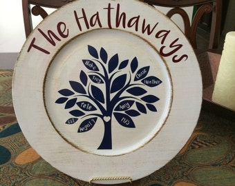 Family Tree Charger Plate