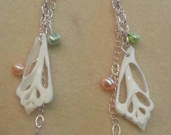Center Cut Chula Shells with Freshwater Pearls