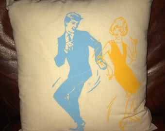 Vintage at Goodwood Retro Dancers Cushion