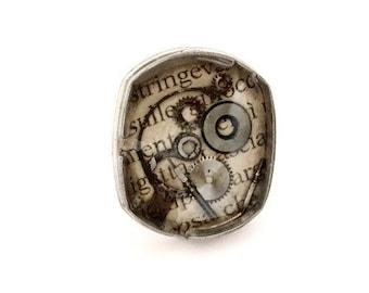 """resin ring adjustable """"metal"""""""