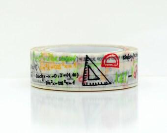 math washi tape- school masking tape- scrapbooking- decorative tape- craft supplies- erin condren washi-card making-school planner washi