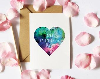 Valentine's Card Downloads, Printable Card, Card for Girlfriend, Valentine Card Her, Digital Download, Instant Download