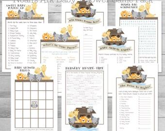 Noah's Ark Baby Shower 8-Game Pack, Noah's Ark Baby Shower