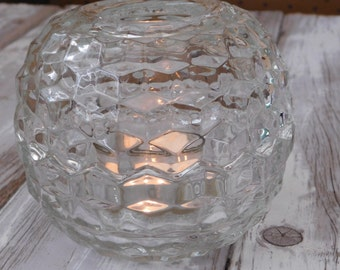 Vintage Indiana Glass Fairy Lamp