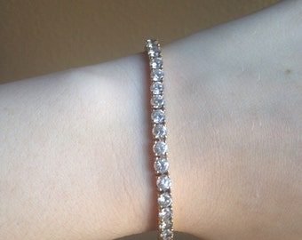 Faux Diamond Bracelet Costume Jewelry