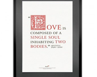 Aristotle Quote Letterpress Print