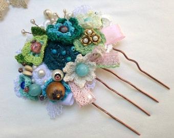 Bridal flower comb Floral accessory Bridal hair accessories Flower comb Hair comb Flower accessory Floral comb Wedding flower comb hair