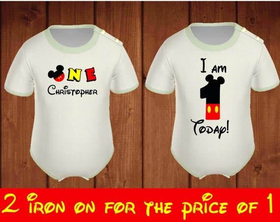 I am one mickey mouse iron on transfer mickey by for Single order custom t shirts
