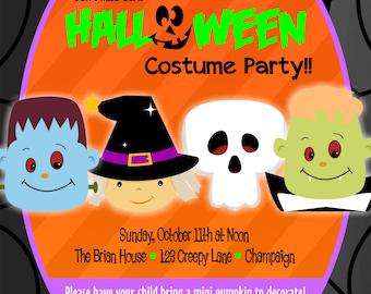 Customized Halloween Party Invitation
