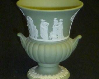 Wedgwood Jasperware Green Urn