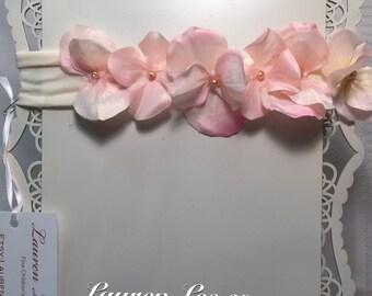 Petite pastel handmade flower headband