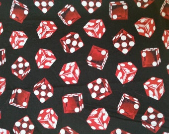 Rolling Red Dice Fabric!