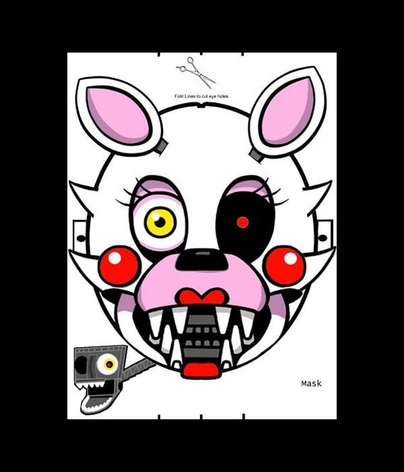 Mask five nights at freddy s fnaf mangle endo skeleton digital