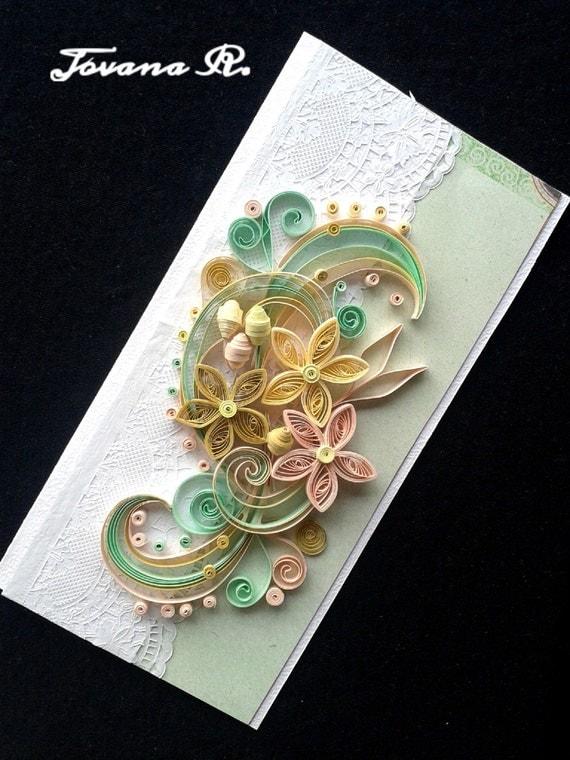 unique handmade greeting card wedding greeting card
