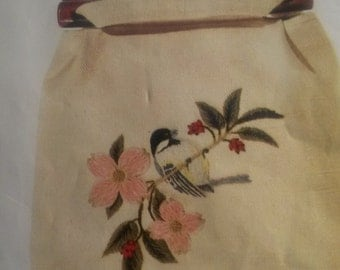 Black-Capped Chickadee Vintage Shoulder Bag kit