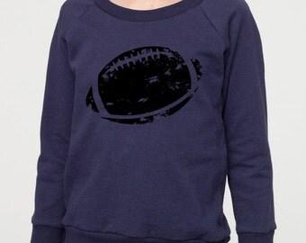 Toddler Long Sleeve Football Shirt, Toddler Football Shirt, Raglan Pullover, Football Kick, Kid's Football Shirt, Printed Football Tee