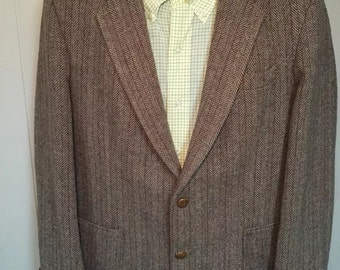 Vintage hagger tweed wool spots coat 42