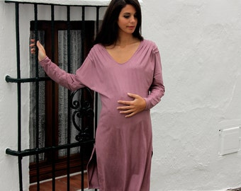 Winter maternity dress , pink, - Prissa