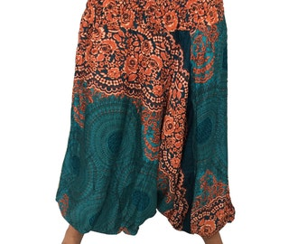 Sambodhya one size comfortable Harem/aladdin pants for lounging, yoga, or adventure