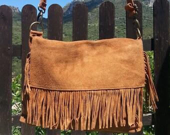 Bag fringe leather shoulder