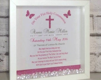 Bespoke First Holy Communion 3D box frame