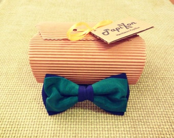 Blue-Green Silk Bow Tie