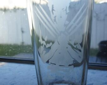 X-Men Inspired Pint Glass Wolverine