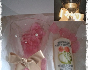 Vase and candle gift