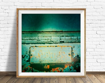 retro wall art masculine wall art masculine decor square wall art instant download printable art large art large wall art rusty blue